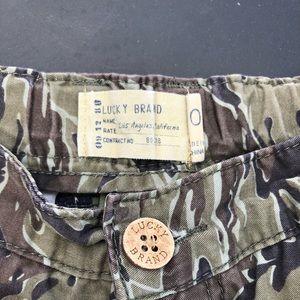 Lucky camo shorts.
